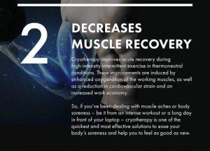 cryotherapy decreases muscle recovery