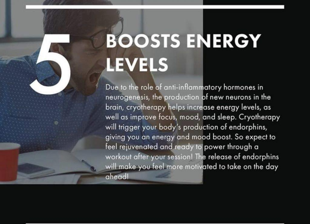 Boost energy cryotherapy